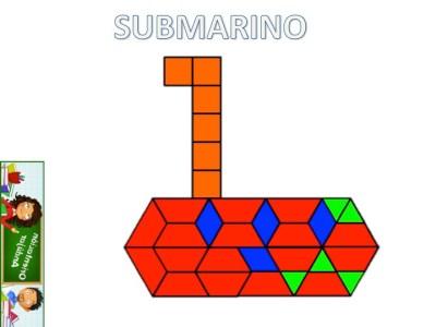 Medios de transporte con Pattern Blocks Mats submarino