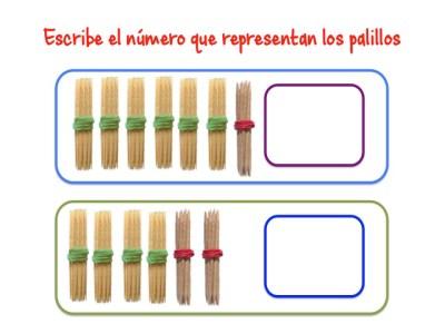 ABN Escribe el número que representan los palillos unidades de millar5