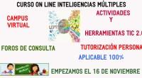 Ya tenemos en marcha la 4ª edición de nuestro curso ON-LIne de Inteligencias Múltiples y herrramientas TIC 2.0. ¿Necesitas un cambio en tu clase? La teoría de las Inteligencias Múltiples […]