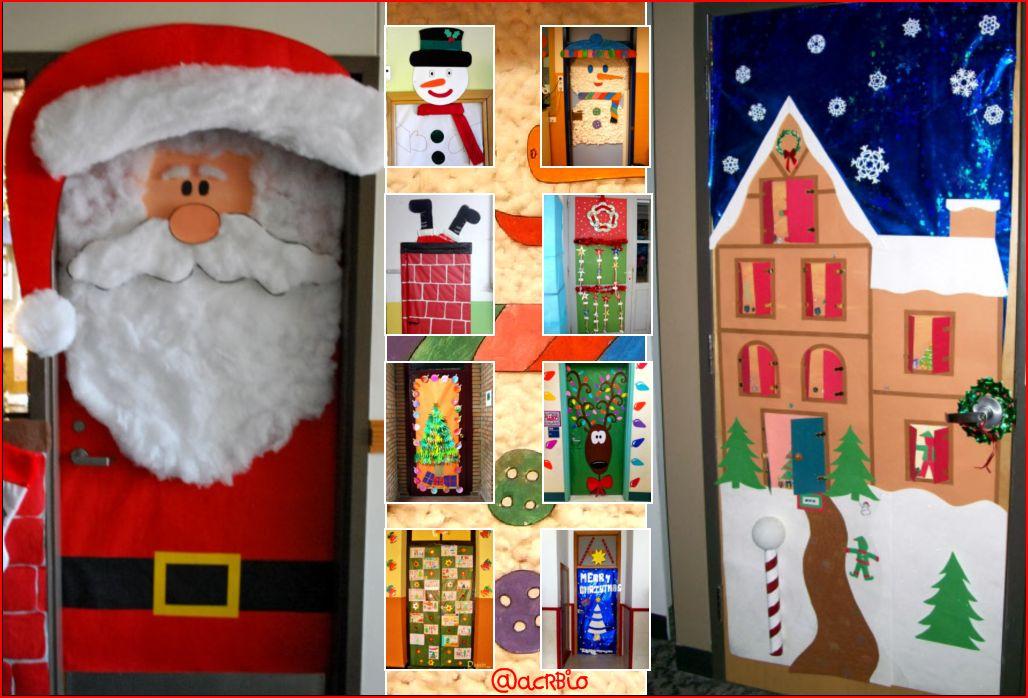 Collage puertas navidad1 orientaci n and jar recursos for Decoracion para puertas de preescolar