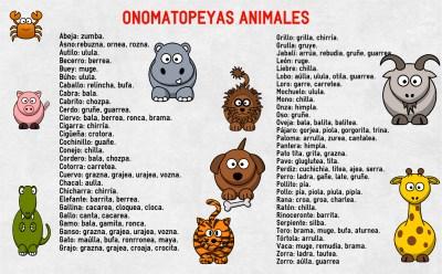 onomatopeyas animales su nombre