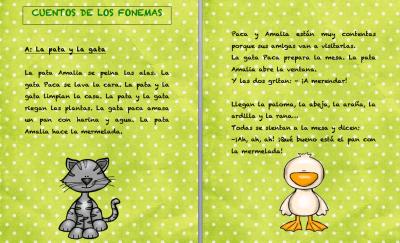 Cuentos fonemas letra a La pata y la gata