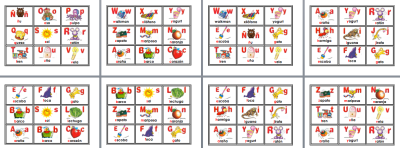bingo loteria abecedario