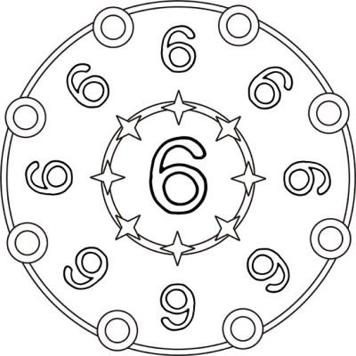 mandala-zahlen-sechs