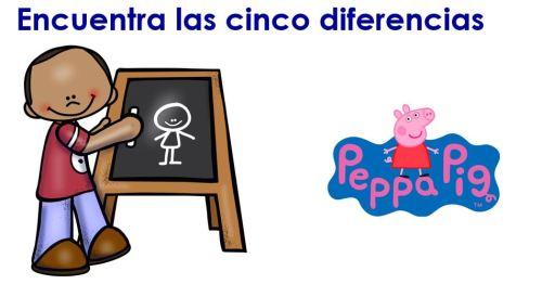 Trabajar la atención Encuentra las diferencias y colorea especial Peppa Pig