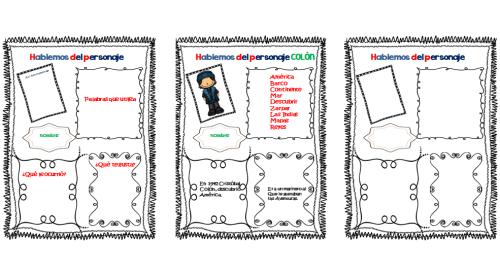organizador gráfico hablemos de un personaje
