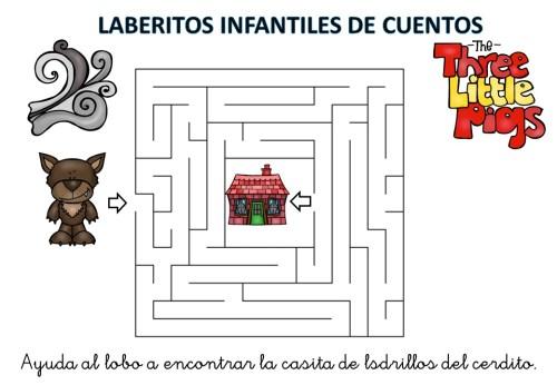 laberinto de cuentos infantiles los tres cerditos (10)