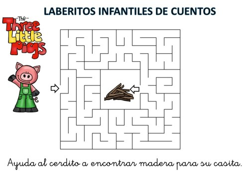 laberinto de cuentos infantiles los tres cerditos (5)