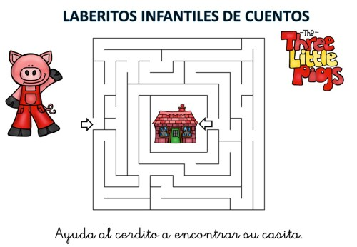 laberinto de cuentos infantiles los tres cerditos (6)