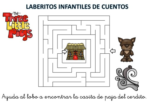 laberinto de cuentos infantiles los tres cerditos (8)