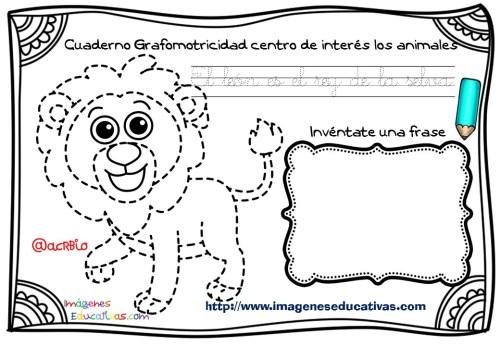 Cuaderno Grafomotricidad centro de interés los animales  (5)