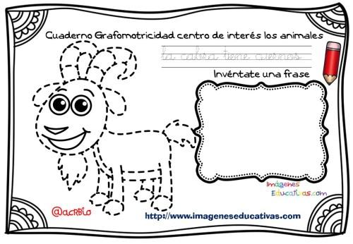 Cuaderno Grafomotricidad centro de interés los animales  (8)