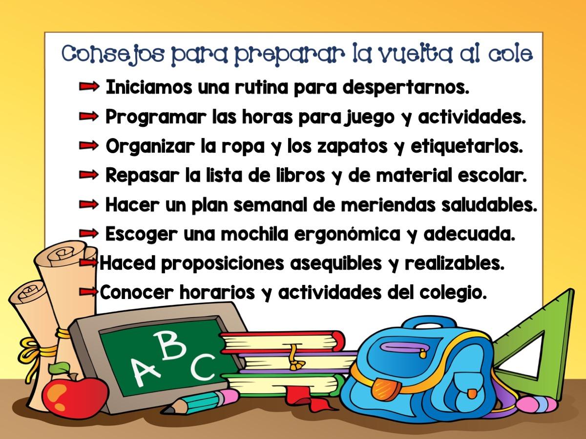 Consejos que nos ayudan a preparar la vuelta al colegio