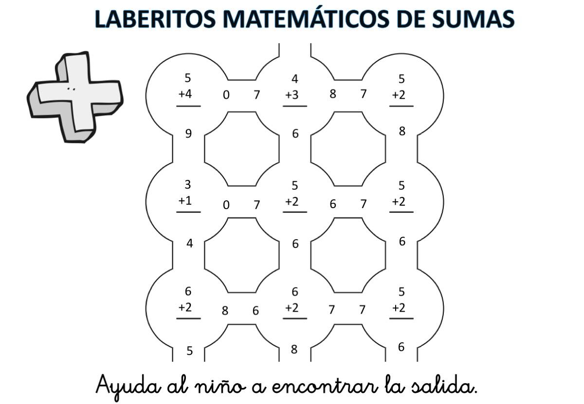 laberintos-de-sumas-nivel-inicial-hasta-el-10-con-soluciones1