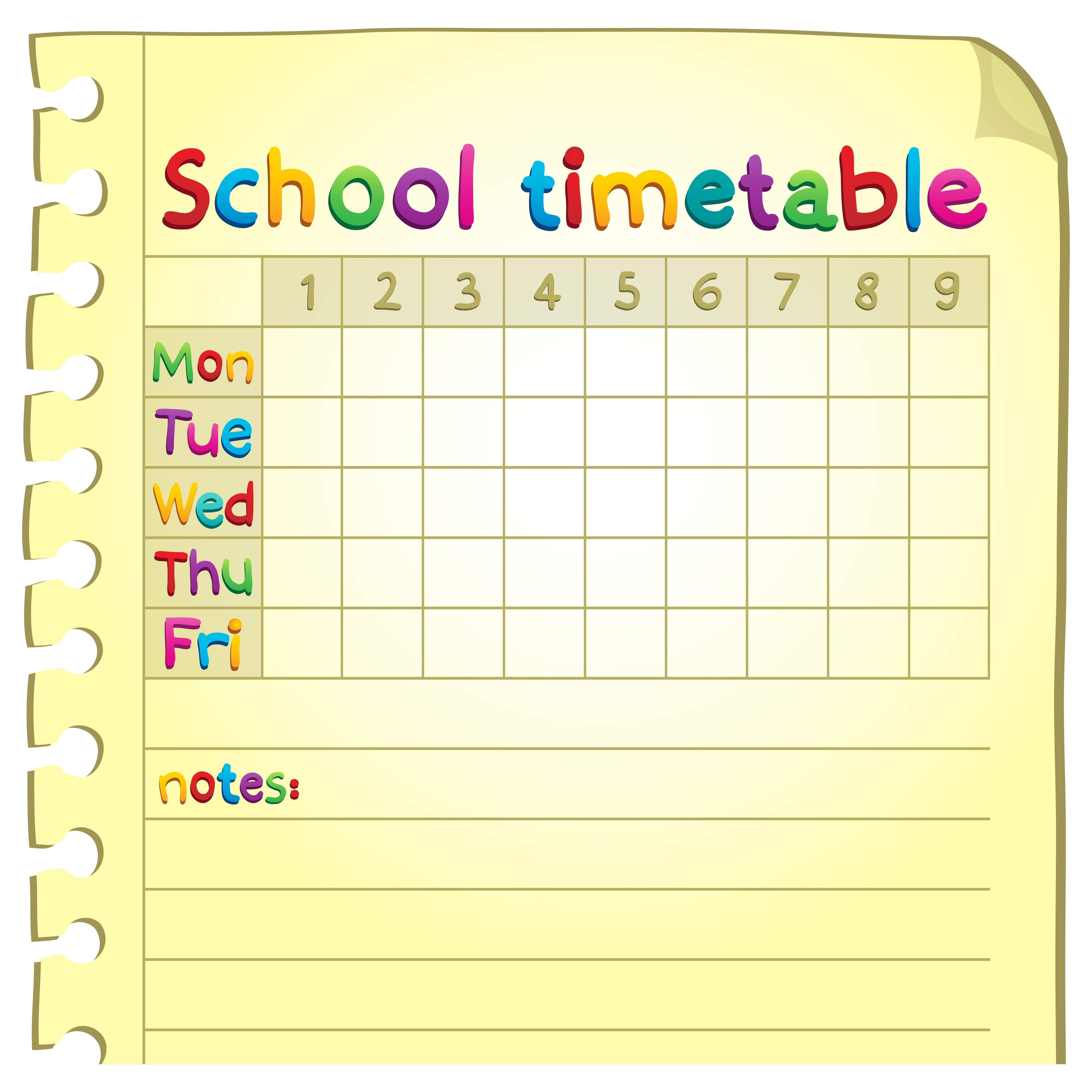 21319178 - school timetable topic
