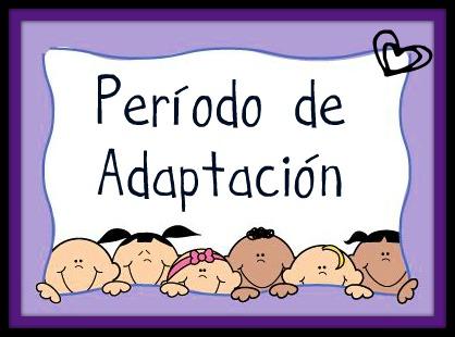 Período de adaptación para la clase de 2 y 3 años