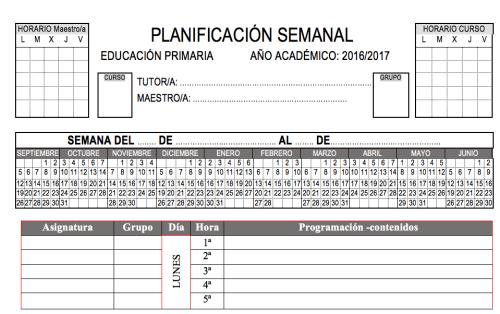 planificador  primaria programar