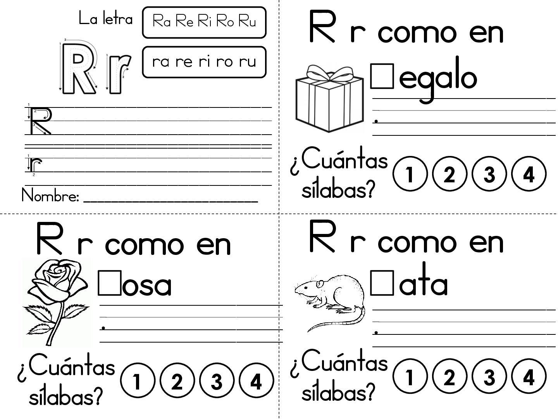 Super Cuadernillo De Ejercicios Del Abecedario Con Silabas