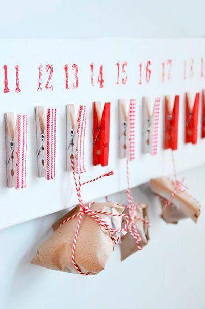 manualidad-calendario-de-adviento-con-pinzas