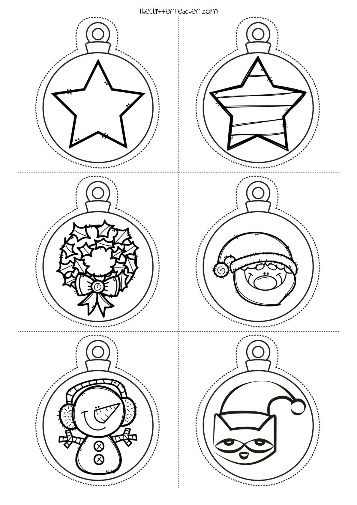 Decora tu clase divertidas bolas de navidad para imprimir y colorear orientacion andujar - Dibujos originales para pintar ...