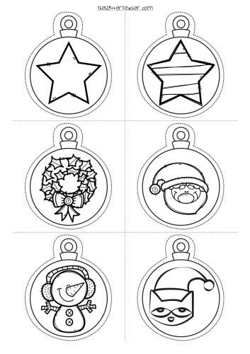 decora tu clase Divertidas Bolas de navidad para imprimir y colorear ...