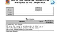 La Rúbrica para Evaluar las Características Principales de una Composición es un instrumento para evaluar los diferentes elementos que deben estar incluidos en una composición. El propósito de la misma […]
