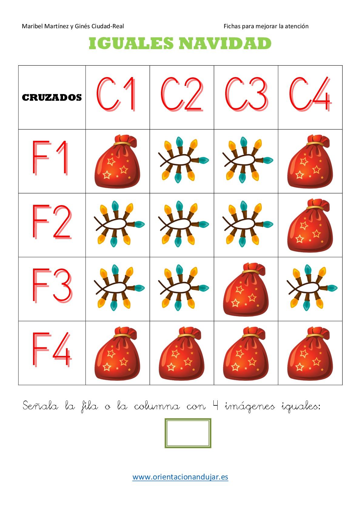 Tdah trabajamos la atenci n bingo cruzado 4x4 especial navidad orientacion andujar - Vetrocamera 4 12 4 ...