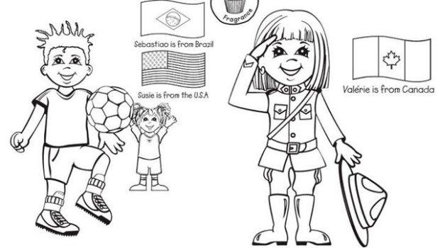Día De La Paz Galería De Dibujos Y Carteles Niños Del: Colorear Chicos Y Chicas Del Mundo9