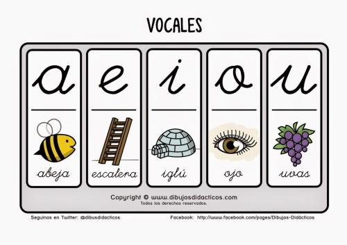 1001 imgenes para trabajar las vocales Orientacion Andujar