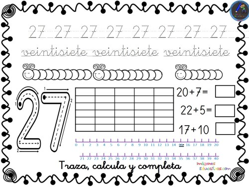 Dibujos Para Colorear De Los Numeros Del 1 Al 20: Fichas Para Trabajar Los Números Del 1 Al 30 -Orientacion
