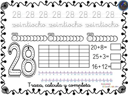 Fichas Para Trabajar Los Números Del 1 Al 30 Orientacion Andujar