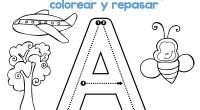 DESCARGA EL ARCHIVO EN PDF Abecedario grafomotor para colorear y repasar