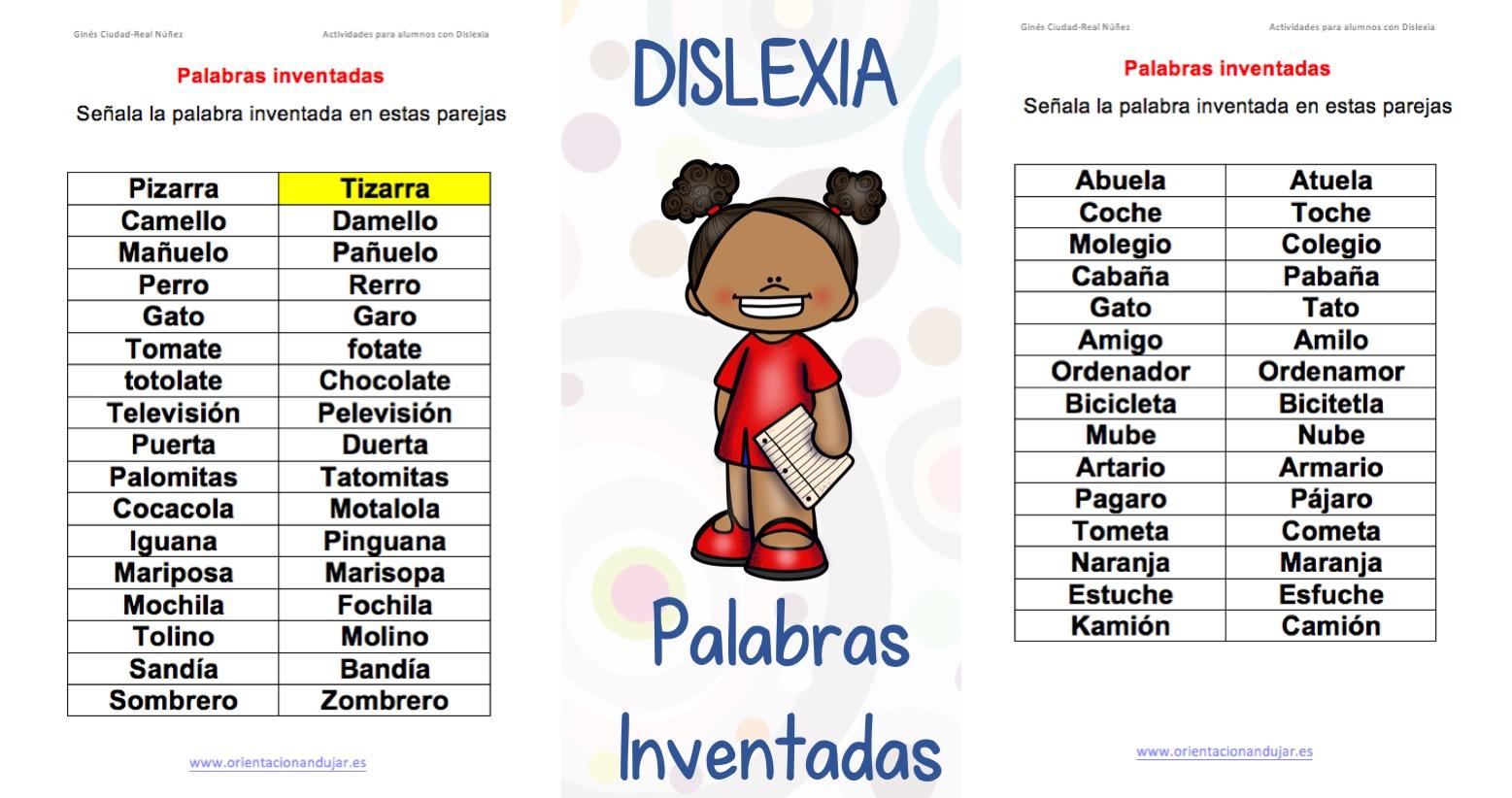 Ejercicios Para Ninos Con Dislexia Palabras Inventadas Plantilla