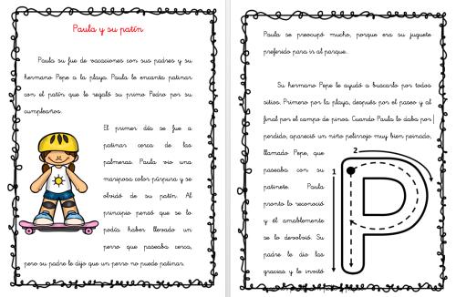 Cuentos Con Fonemas La Letra P Paula Y Su Patín