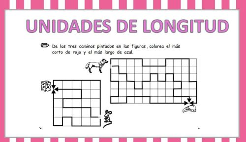 Coleccion De Fichas Para Trabajar Las Unidades De Medida Longitud