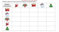 Bingo cruzado de 5×5 especial Navidad.  DESCARGA EL BINGO EN PDF Trabajamos la atencion en navidad con estos bingos cruzados