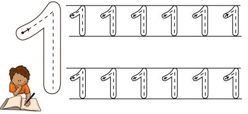 Fichas De Grafomotricidad De Numeros 1 A 10 Listas Para