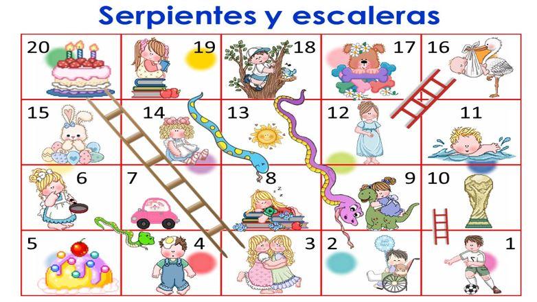 Adaptado para infantil juego de la oca y serpientes y for Escaleras y serpientes imprimir