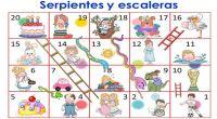 Os hemos preparado estas sencillas adaptaciones del juego de la Oca y el de las serpientes y escaleras ideales para educación infantil o preescolar.