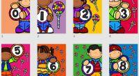 Os dejamos estos divertidos carteles para trabajar los números del 1 al 10, también los podemos emplear para decorar nuestras aulas.