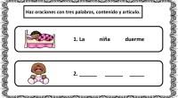 En la siguiente actividad nuestros alumnos deben formar oraciones con tres palabras a partir de un dibujo. Sencillo ejercicio de conciencia léxica, especialmente útil para trabajar la dislexia.