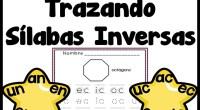 Conjunto de fichas para trabajar el trazo y repasar las sílabas inversas.