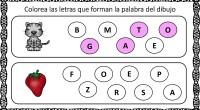 Hoy os proponemos una divertida actividad para trabajar la conciencia fonológica, en la que nuestros alumnos deben identificar que letras forman una palabra y señalarlas.