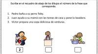 Nueva actividad para trabajar la comprensión lectora en la que nuestros alumnos deben identificar que frase corresponde con cada dibujo. De esta forma nuestros alumnos trabajan la percepción visual y […]