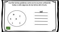 En el siguiente ejercicio para trabajar el pensamiento y la escritura creativa, los alumnos deben escribir tantas palabras como puedan con el conjunto de letras que se proponen, pueden utilizar […]