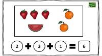 En la siguiente actividad matemática se representa a través de dibujos una suma con sus sumandos y el resultado; los alumnos deben rellenar los círculos con el número correcto que […]