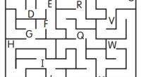 Sencillos laberintos que tenemos que completar siguiendo las letras del abecedario.