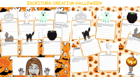 Os dejamos estos divertidos materiales de halloween para trabajar la escritura creativa creados por Carolina, de @learning_with_miss_carolina