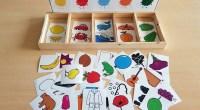 Material manipulativo tipo TEACCH para trabajar de forma lúdica la discriminación visual, el aprendizaje del vocabulario relacionado con los colores y la asociación color-elemento. El material está preparado para imprimir […]