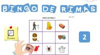 BINGO DE RIMASpara jugar igual que el bingo tradicional pero en versión rimas.